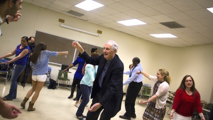 Alan Alda in an improv workshop.