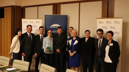 Politics meets space science panellists, co-convenors and hosts